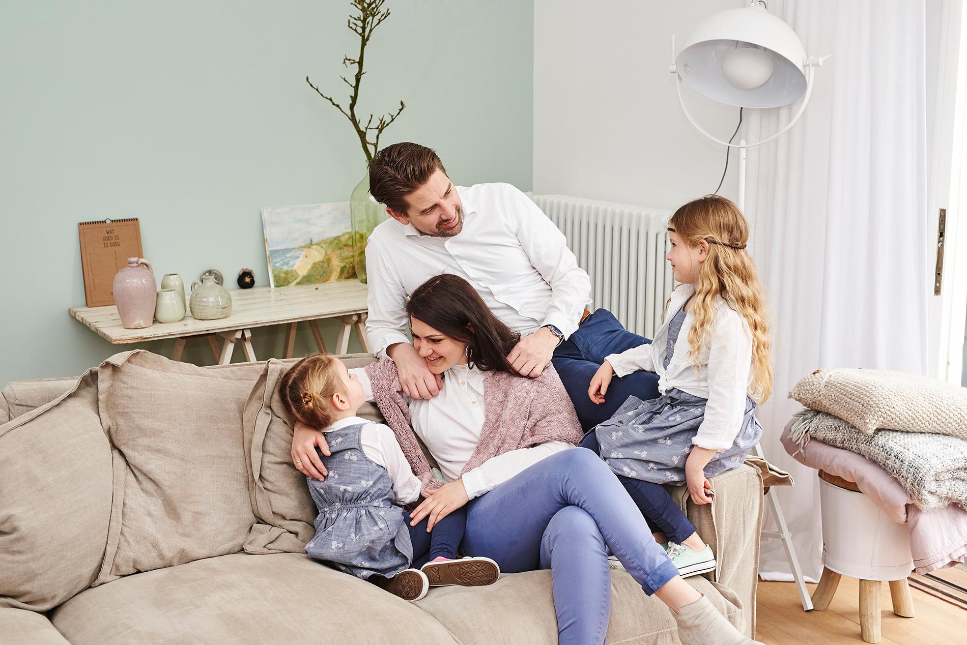 familieshoot eigen huis