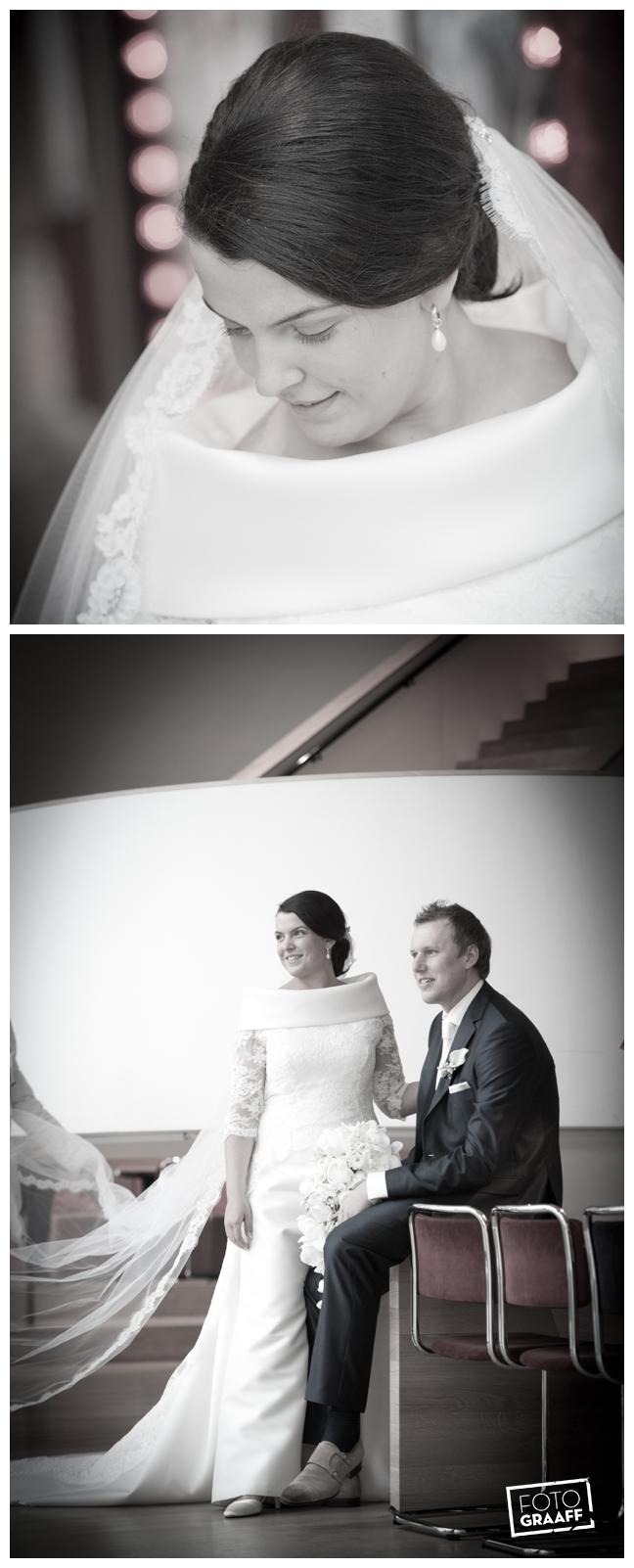 Bruidsfotografie in Dordrecht en feest In de skybar bij Hotel van der Valk Dordrecht_1056