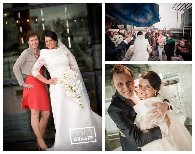 Bruidsfotografie in Dordrecht en feest In de skybar bij Hotel van der Valk Dordrecht_1065