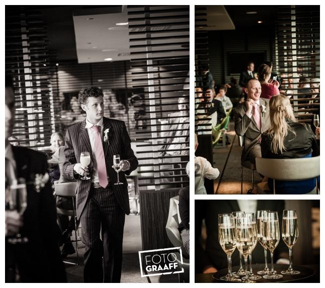 Bruidsfotografie in Dordrecht en feest In de skybar bij Hotel van der Valk Dordrecht_1085
